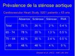 pr valence de la st nose aortique