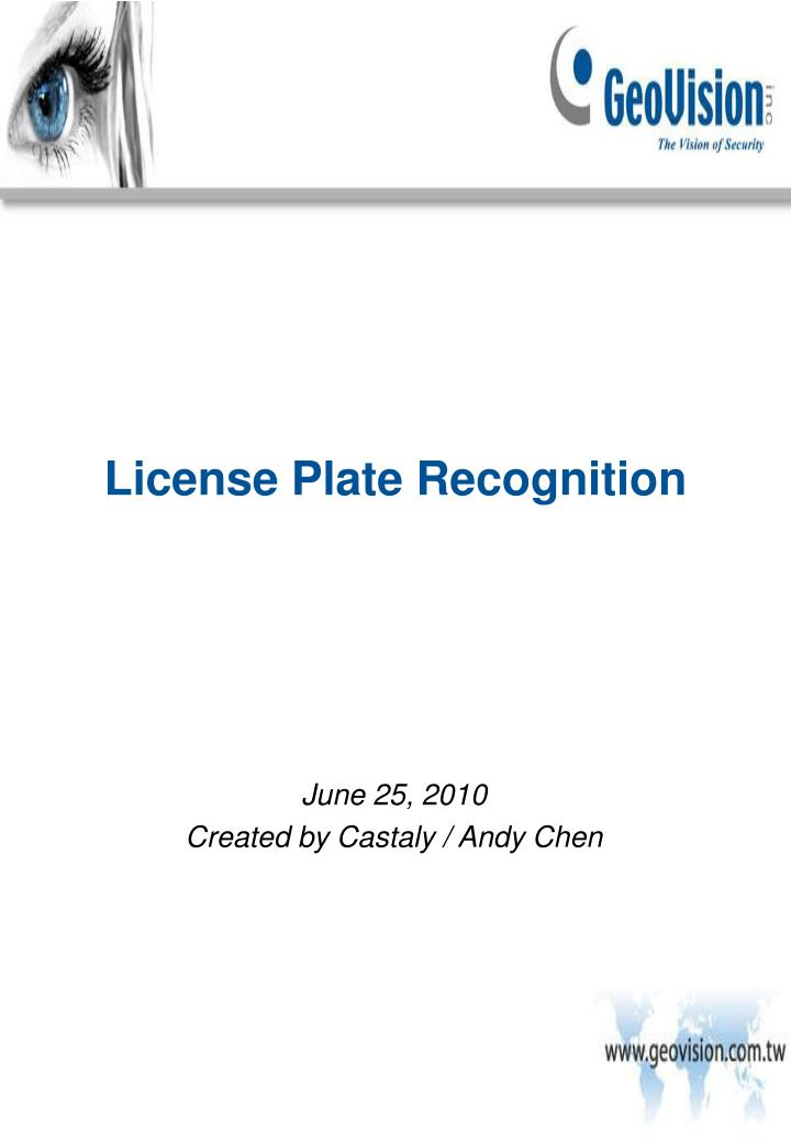 license plate recognition n.