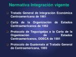 normativa integraci n vigente