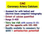 cac coronary artery calcium