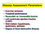 disease assessment parameters