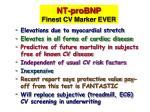 nt probnp finest cv marker ever