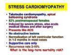 stress cardiomyopathy