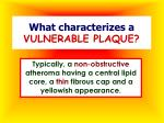 what characterizes a vulnerable plaque
