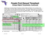 people first manual timesheet charge object timesheets continued