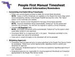 people first manual timesheet general information reminders
