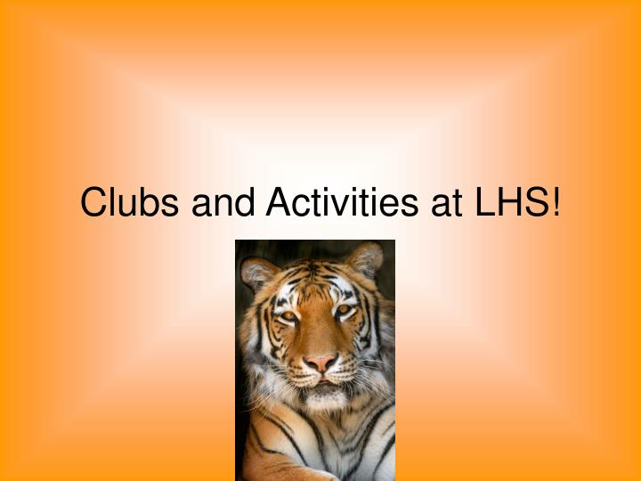 clubs and activities at lhs n.