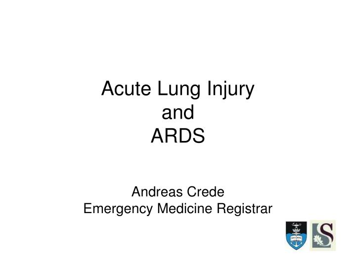 acute lung injury and ards n.