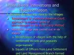 institutional innovations and implementation