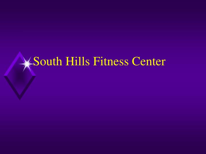 south hills fitness center n.
