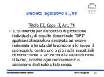 decreto legislativo 81 08