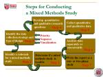 steps for conducting a mixed methods study