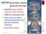 secondary optics general concept