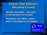 factors that influence microbial growth1