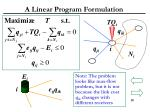 a linear program formulation