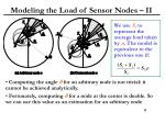 modeling the load of sensor nodes ii
