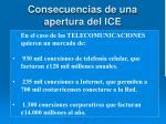 consecuencias de una apertura del ice