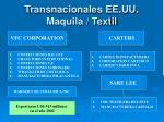 transnacionales ee uu maquila textil