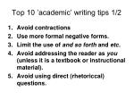 top 10 academic writing tips 1 2