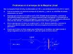 problemas en el arranque de la maquina lineal