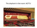 the elephant in the room acftu