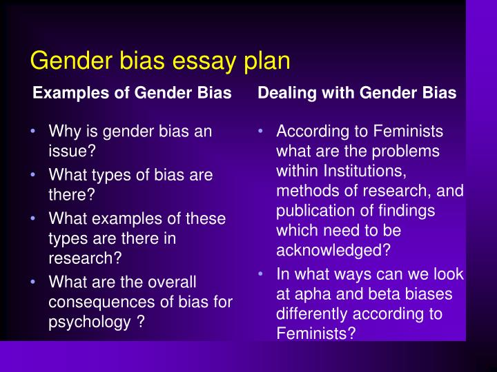 Essay on gender bias