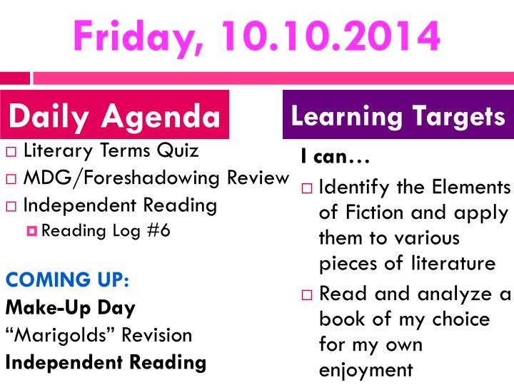 Friday, 10.10.2014