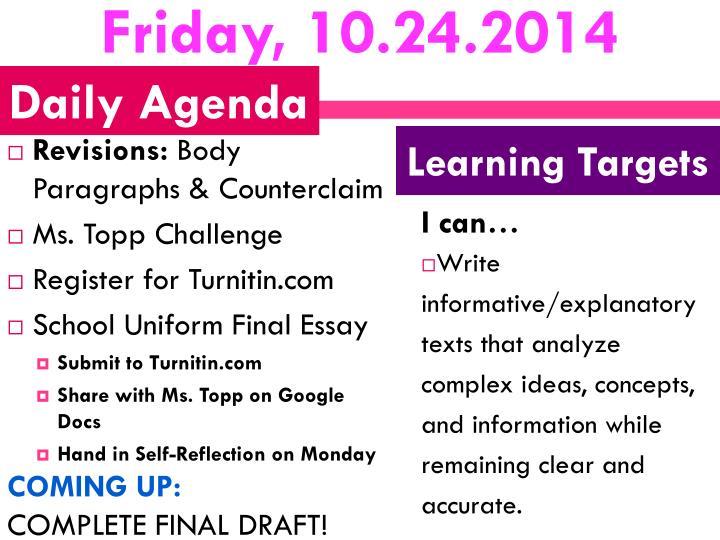 Friday, 10.24.2014