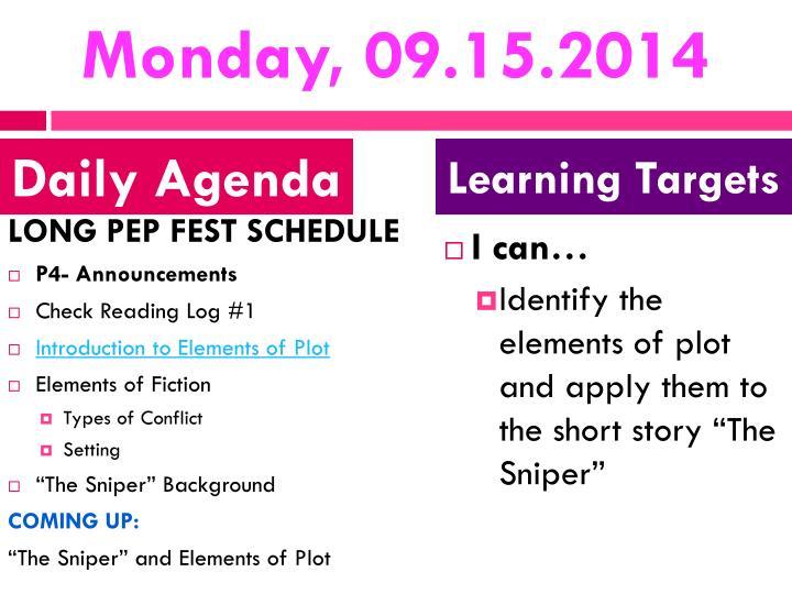 Monday, 09.15.2014