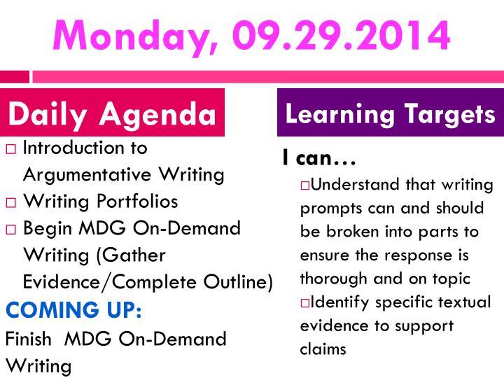 Monday, 09.29.2014