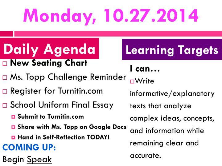 Monday, 10.27.2014