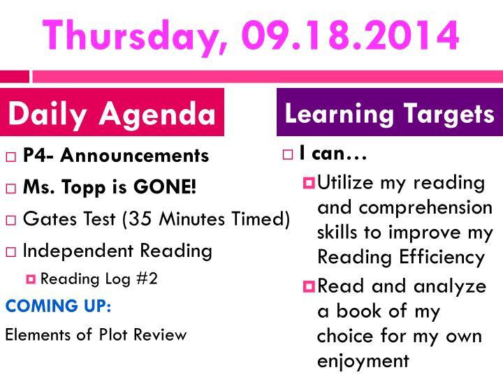Thursday, 09.18.2014