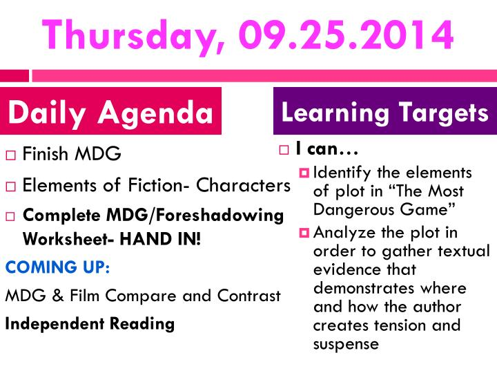 Thursday, 09.25.2014