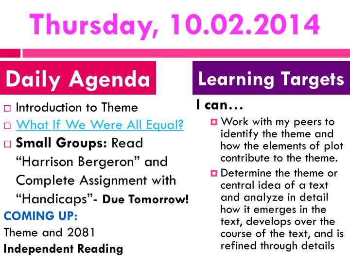 Thursday, 10.02.2014