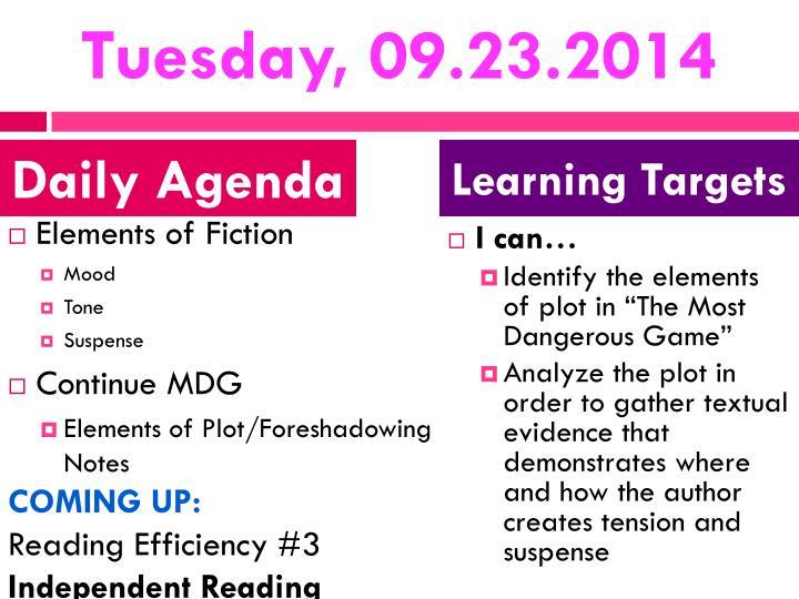 Tuesday, 09.23.2014
