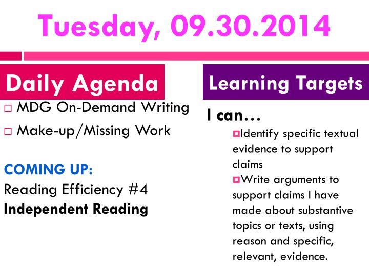 Tuesday, 09.30.2014