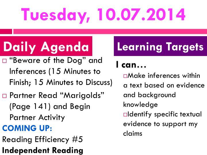 Tuesday, 10.07.2014