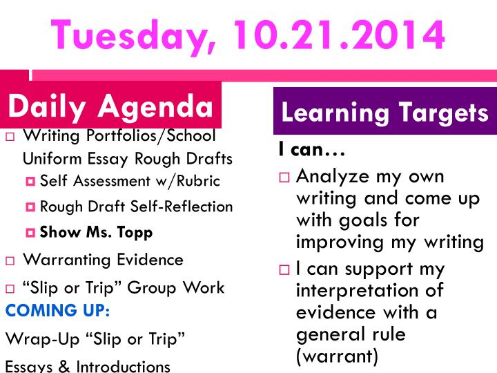Tuesday, 10.21.2014