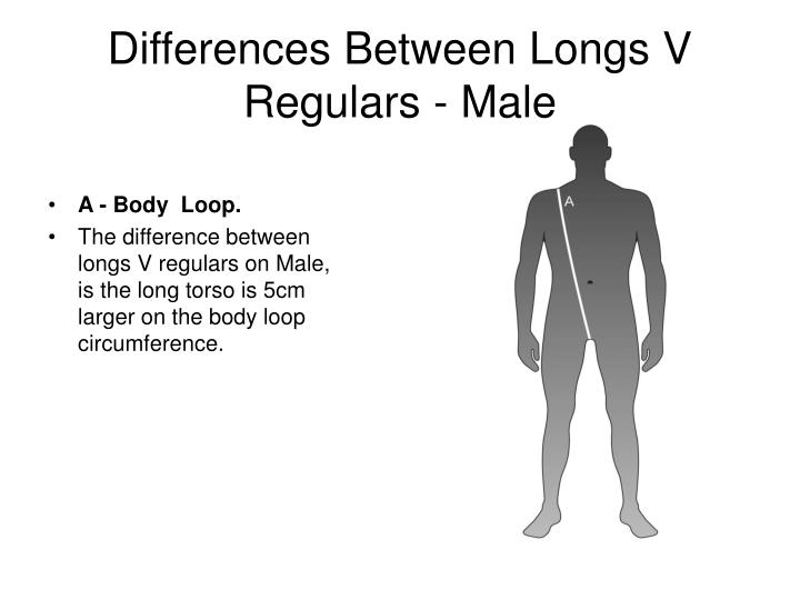 Differences between longs v regulars male