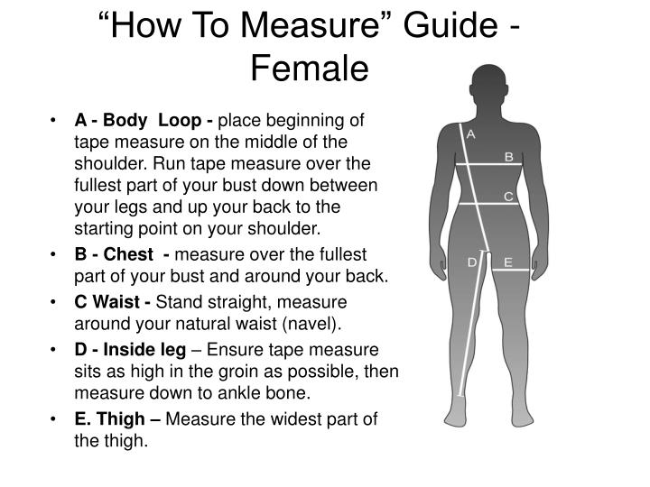 """""""How To Measure"""" Guide - Female"""
