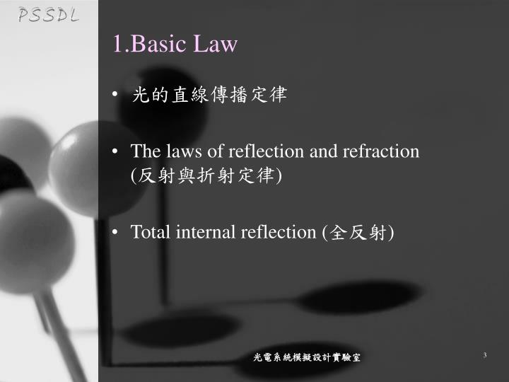 1 basic law