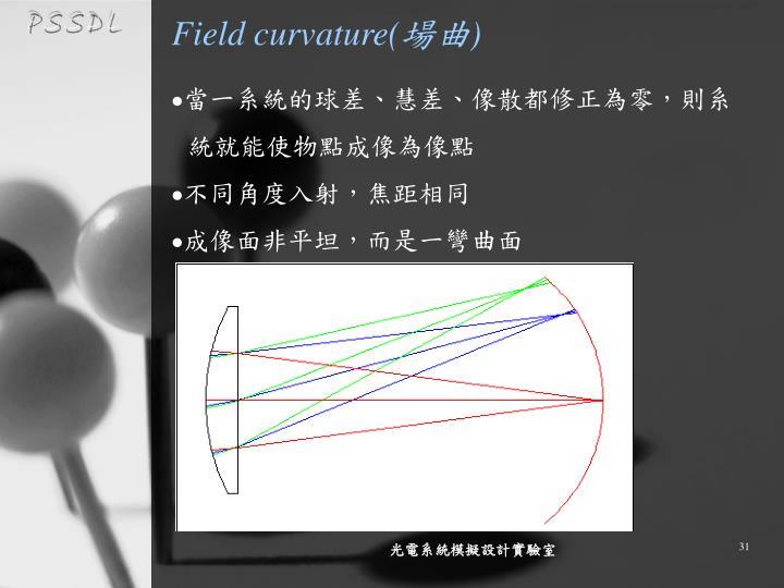 Field curvature(