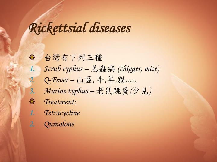 Rickettsial diseases