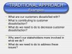 traditional approach examples
