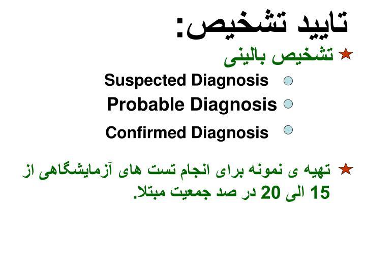 تایید تشخیص: