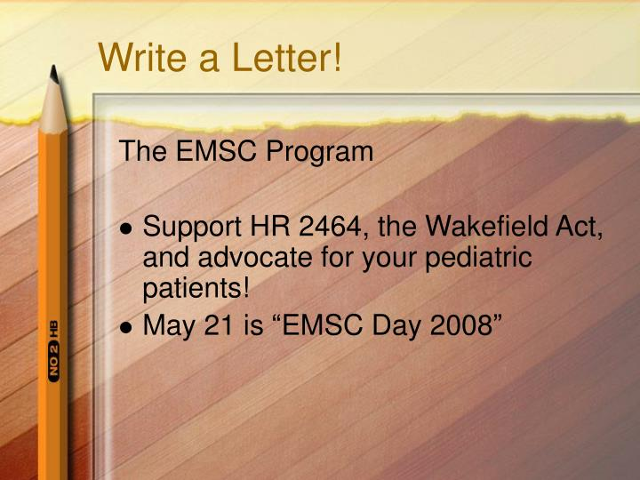 Write a Letter!