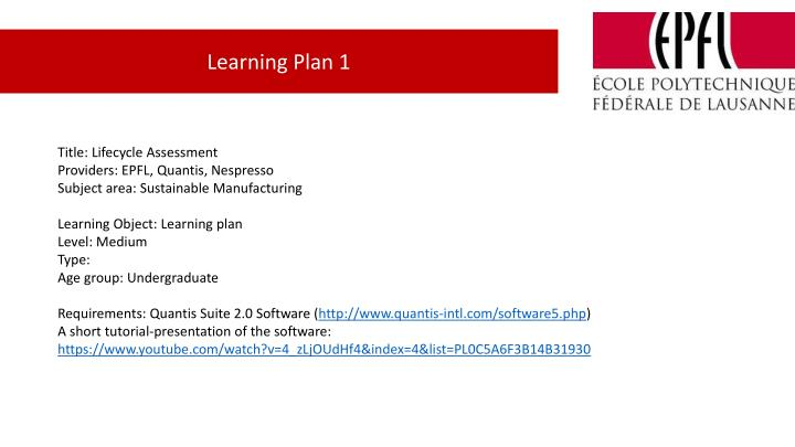 Ppt Title Lifecycle Assessment Providers Epfl Quantis Nespresso Powerpoint Presentation Id 6870698
