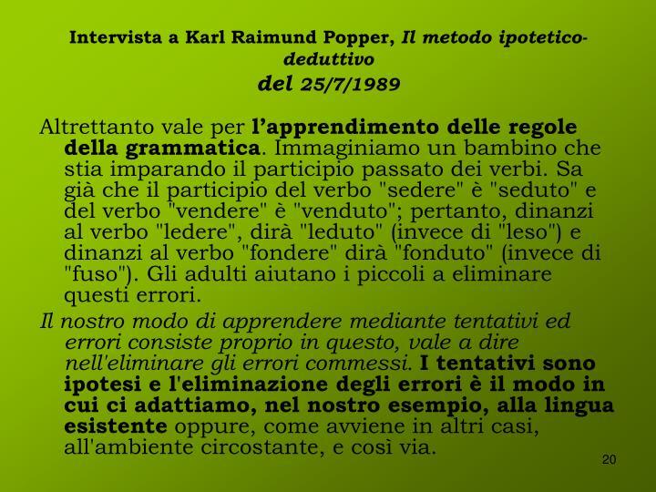 Intervista a Karl Raimund Popper,