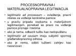 procesnopravna i materijalnopravna legitimacija