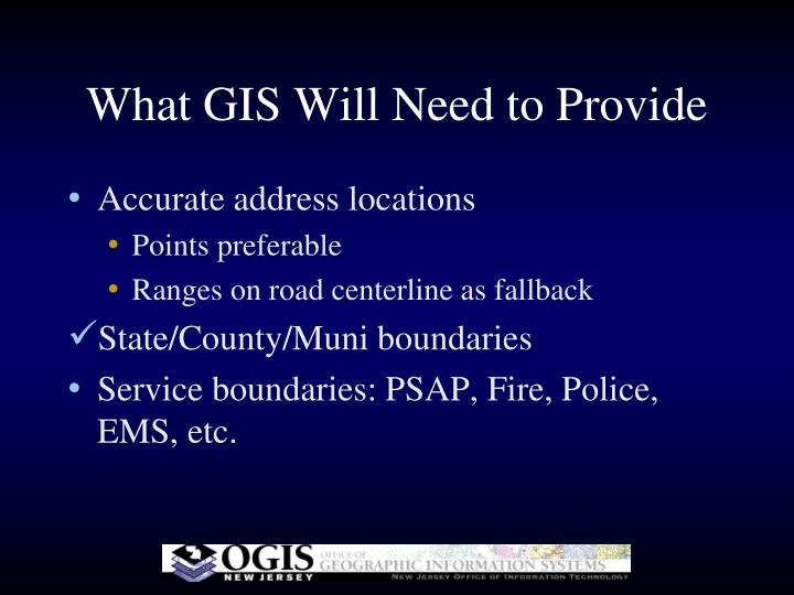 What GIS Will Need to Provide